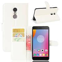 Чехол-книжка Litchie Wallet для Lenovo K6 Note Белый