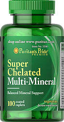 Минералы Puritan's Pride Super Chelated Multi Mineral 100 caps