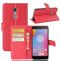 Чехол-книжка Litchie Wallet для Lenovo K6 Note Красный