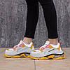 """Женские кроссовки Balenciaga Triple S """"Yellow"""" в стиле Баленсиага, фото 4"""