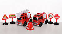 Детский набор транспорта, детские пожарные машинки для мальчика