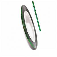 Лента самоклеющаяся для дизайна 0,8 мм №25, Цвет Зелёный голограмма