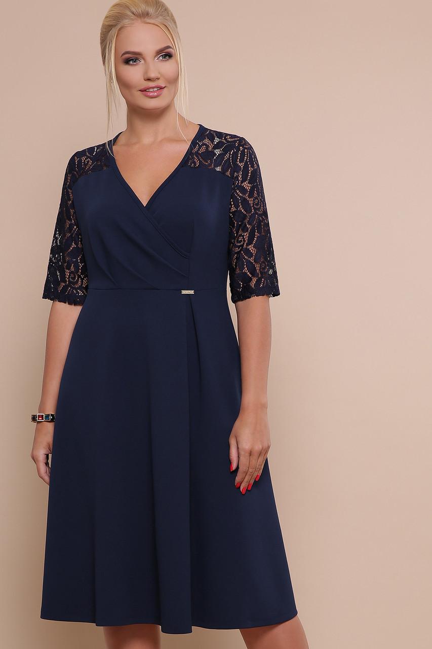 Женское платье синие Ида-Б к/р