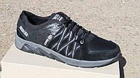 Обувь больших размеров Кожаные мужские кроссовки BigBoss