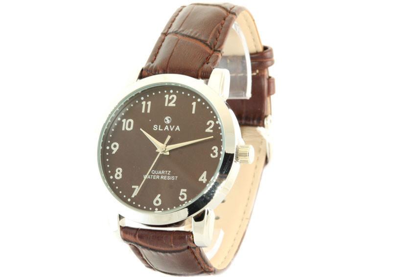 Мужские часы SLAVA 10072 + ПОДАРОК: Держатель для телефонa L-301