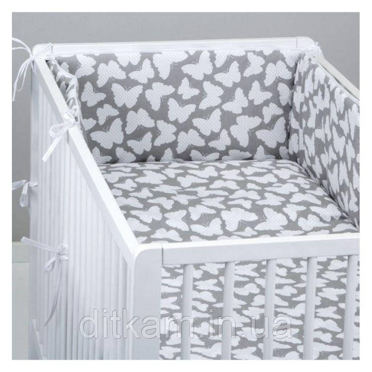 Комплект в кроватку Хатка 11 в 1 Бабочки