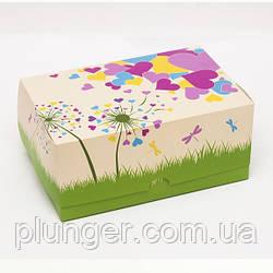 Коробка-контейнер для кондитерських виробів, кольорова Кульбабка