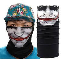 Многофункциональный головной убор Бафф Джокер (копия Buff), черно-белый, фото 1
