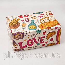 Коробка-контейнер для кондитерських виробів, кольорова Париж