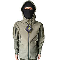 Тактическая куртка  Soft Shell Olive Military Plush Хаки