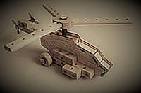 Конструктор Гелікоптер.Розмір зібраної моделі 40*18*16см