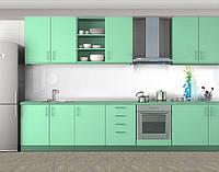Кухонный фартук Пиксели, виниловая самоклеющаяся пленка, наклейка на кухню, скинали на стену, Белый, 600*3000 мм