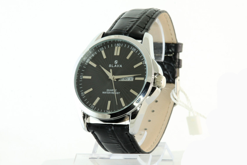 Мужские часы SLAVA 10078 + ПОДАРОК: Держатель для телефонa L-301