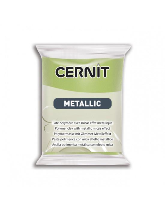 Новинка! Полимерная глина Цернит Cernit серия Металлик Metallic, Зеленое Золото, 56г