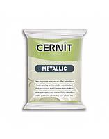 Новинка! Полимерная глина Цернит Cernit серия Металлик Metallic, Зеленое Золото, 56г, фото 1