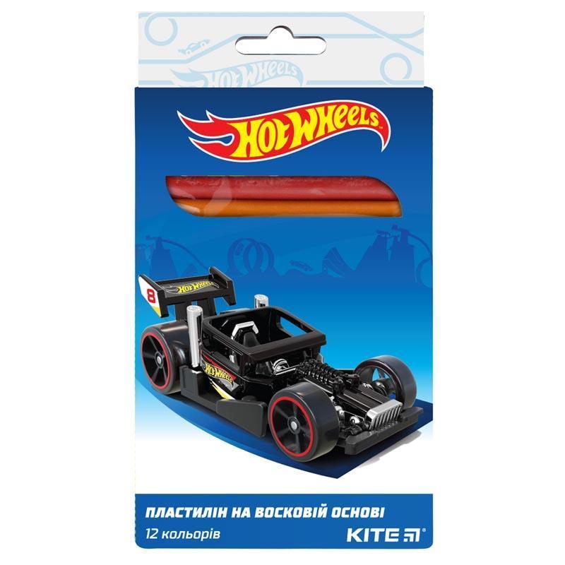 Пластилин Kite Hot Wheels восковой 12 цв. 200 г HW19-086