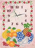 Часы. Ваза с фруктами