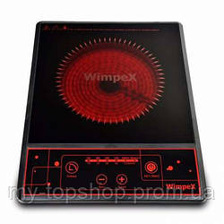 Інфрачервона плита настільна, електроплита WimpeX WX1322 з функцією барбекю з таймером (2000W)