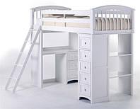 Кровать чердак с рабочей зоной.