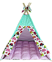 Вигвам Хатка комплект Индия Розовый с мятным