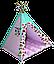 Вигвам Хатка комплект Индия Розовый с мятным, фото 2