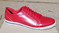 Обувь больших размеров Кожаные мужские кеды Big Boss