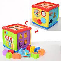 Детский развивающий кубик игрушка( музыкальный)