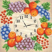 Часы. Фруктовый веночек