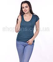 Футболка женская декольте из вискозы Размеры 42-58