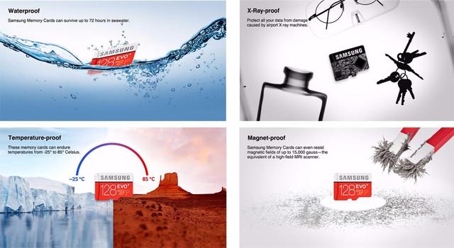 Изображение 4 уровней защиты карты памяти Samsung EVO Plus
