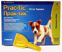Прак-тик (Prac-tic) капли от блох,клещей и других паразитов для малых пород собак весом от 4,5-11 кг *