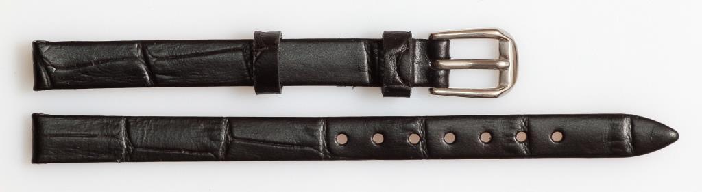 Ремешок кожаный AONO 8 мм, черный