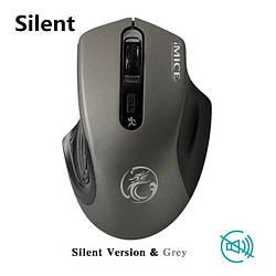 Стильная беспроводная мышь iMice G-1800 Grey