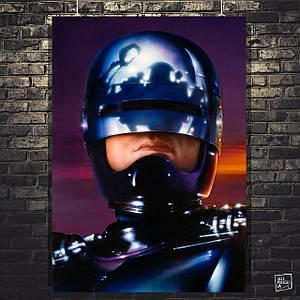 Постер RoboCop, Робокоп, Робот-полицейский крупным планом. Размер 60x43см (A2). Глянцевая бумага