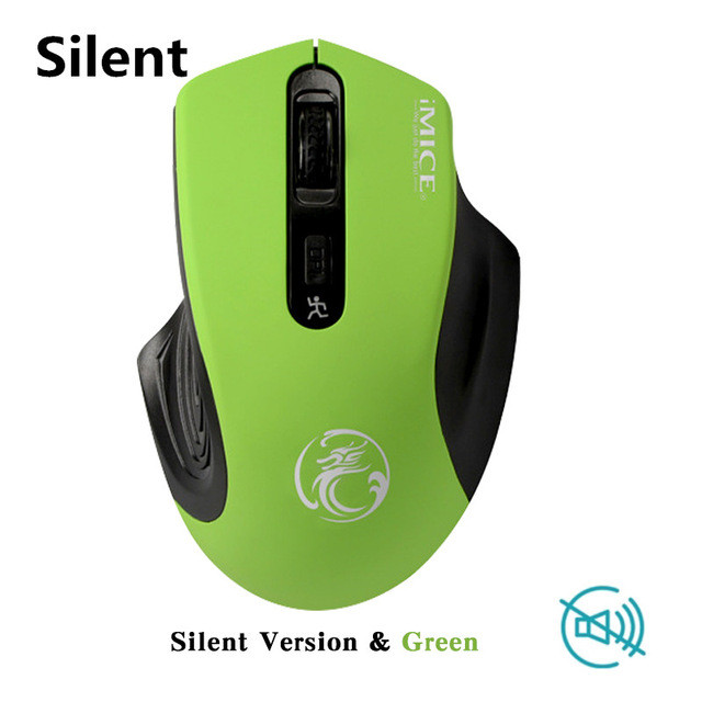 Стильная беспроводная мышь iMice G-1800 Green