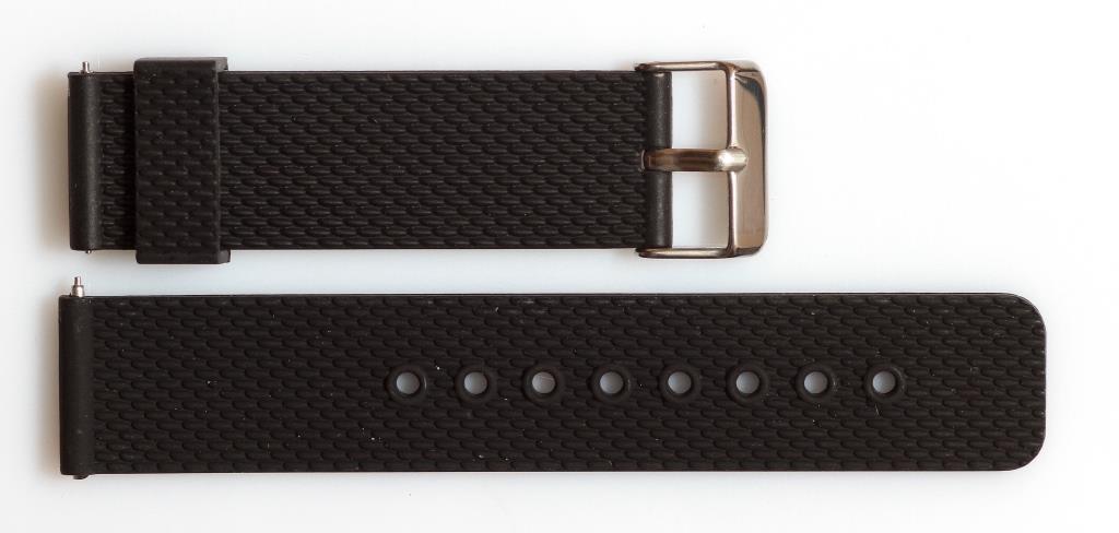 Ремешок каучуковый SMART 22 мм, черный