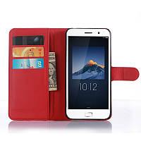 Чехол-книжка Litchie Wallet для Lenovo Zuk Z1 Красный