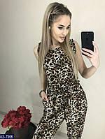 Леопардовый комбинезон  233-2