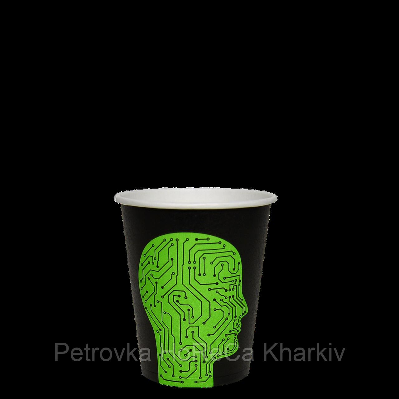 "Одноразовый стакан, серия ""Проскануй"", 175мл. 50шт/уп (1ящ/20уп/1000шт) под крышку КВ71/""РОМБ"" 71, фото 1"