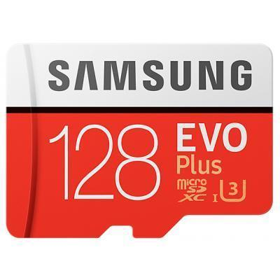 Карта памяти Samsung EVO Plus SDXC 128 ГБ (10 класс скорости)