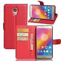 Чехол-книжка Litchie Wallet для Lenovo Vibe P2 Красный