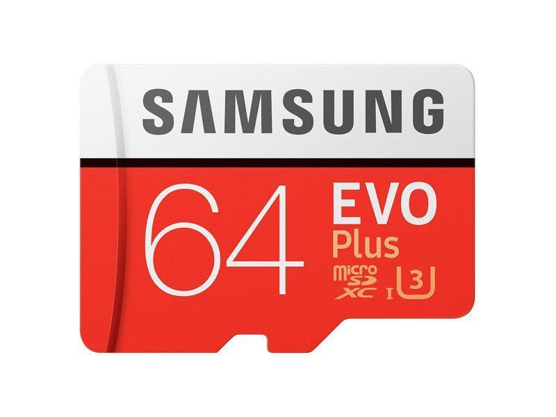 Карта памяти Samsung EVO Plus SDXC 64 ГБ (10 класс скорости)