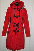 Красная  куртка парка, молодежная модель, фото 1