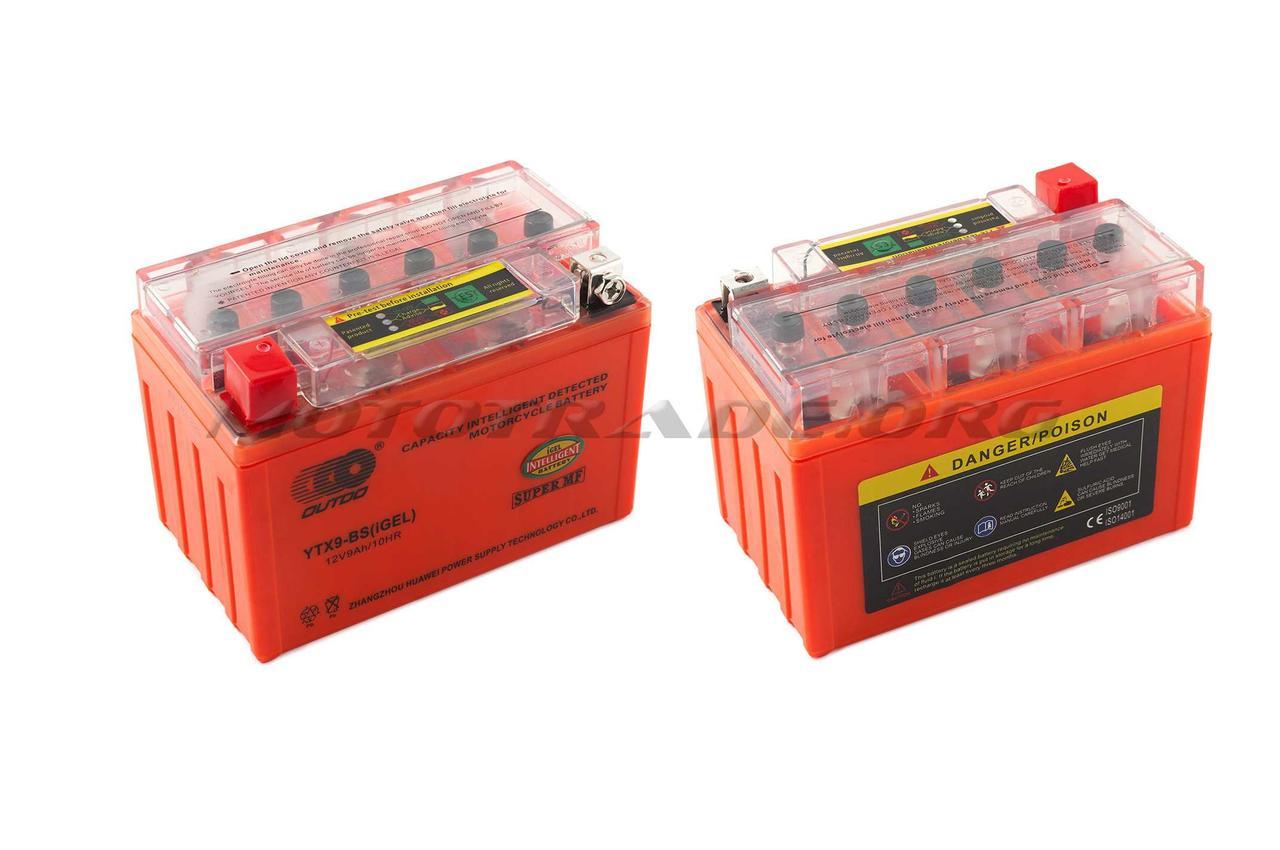 АКБ   12V 9А   гелевый    (152x88x106, оранжевый, с индикатором заряда)   OUTDO, шт
