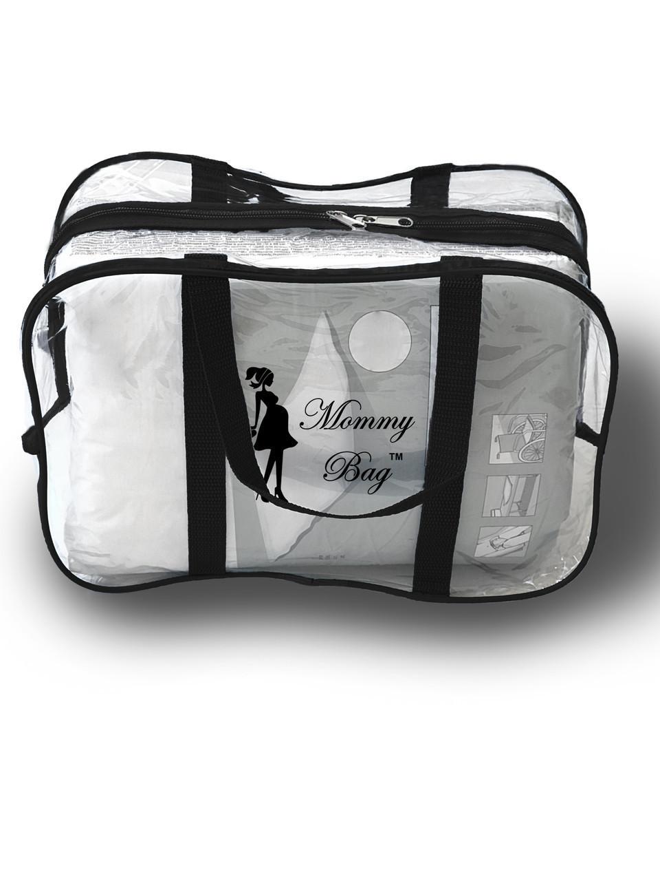 Сумка прозрачная в роддом Mommy Bag - S - 31*21*14 см Черная