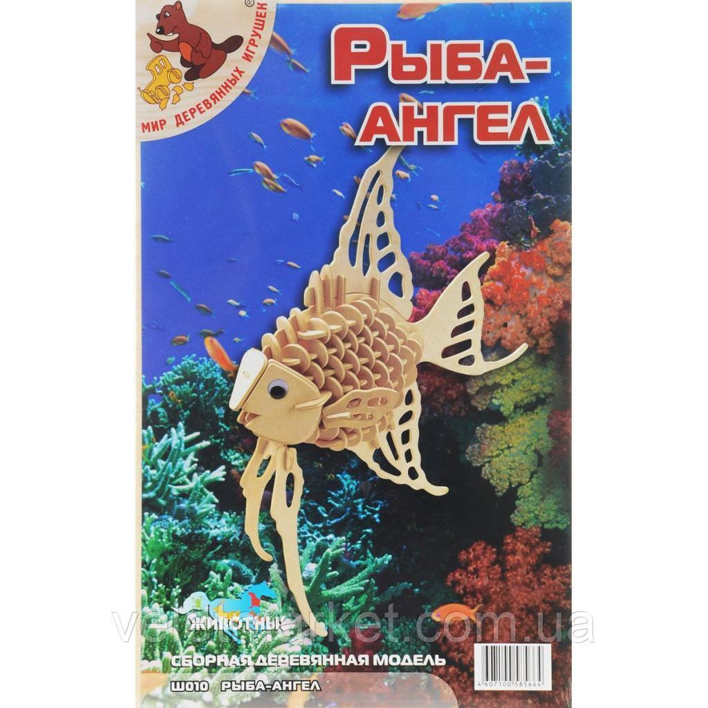 Сборная модель Мир деревянных игрушек Рыба-ангел (Ш010)