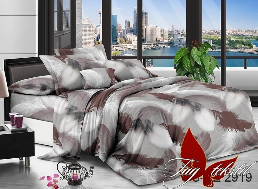 Семейный комплект постельного белья полисатин с 3D эффектом PS-NZ2919