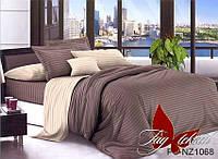 Семейный комплект постельного белья полисатин с 3D эффектом с компаньоном PS-NZ1068