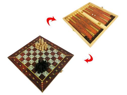 Шахматы 28C 3 в 1 (шахматы, шашки, нарды), фото 2