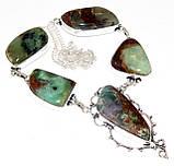 Хризопраз ожерелье с индийским хризопразом в серебре, фото 7